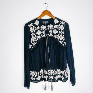 Mossimo Supply Co. Embroidered Cardigan